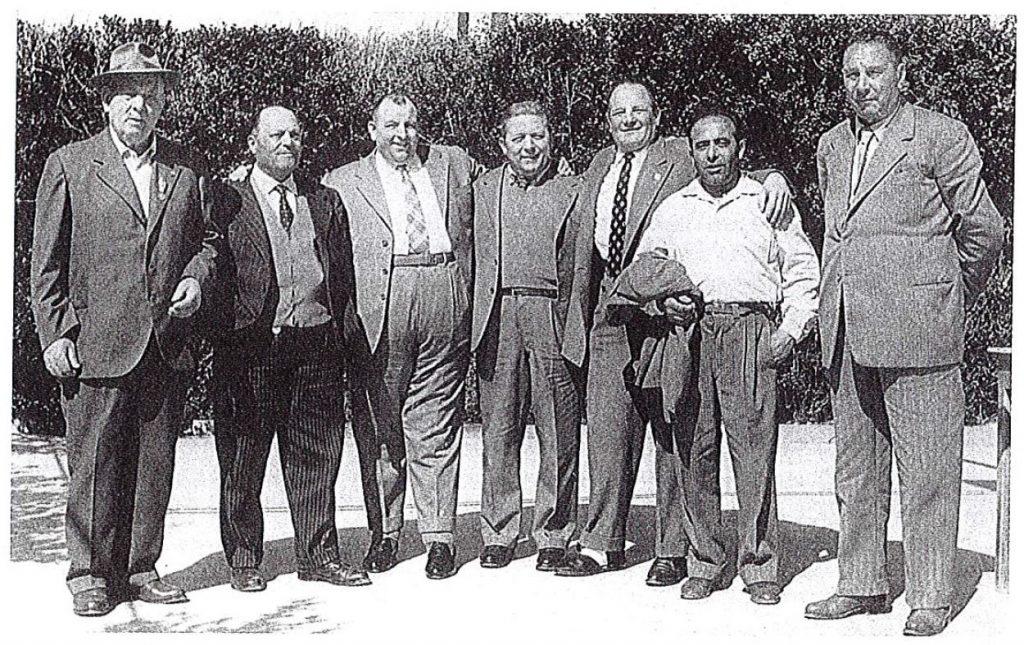 Un gruppo di soci fondatori - Avis Fano 1950